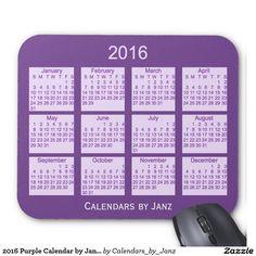 2016 Purple Calendar by Janz Mouse Pad