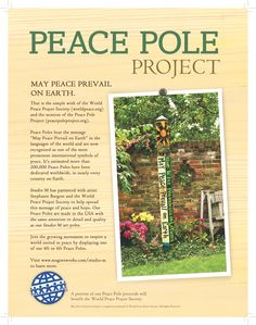 """Love Garden"" Peace Pole from Quirks of Art Garden Whimsy, Love Garden, Garden Ideas, Garden Inspiration, Prayer For Peace, Serenity Prayer, Modern Birdhouses, Garden Poles, Garden Gate"