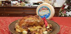 Γεμιστό Κοτόπουλο με Γραβιέρα Turkey, Meat, Food, Turkey Country, Eten, Meals, Diet