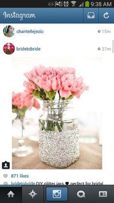 DIY glitter jars - centerpieces