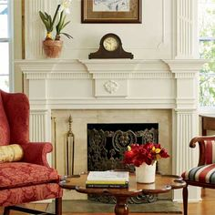 The beautiful mantel and molding around this fireplace were created using a built-up blend of stock pieces and custom ones by the homeowner in his basement workshop. | Photo: Wendell T. Webber | thisoldhouse.com