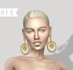 MEDUSA HOOP EARRINGS New meshCustom thumbnail4 modelsRead terms of use herePlease if you use tag me #hautfashionsimsDownload here | x |