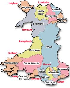 Walesdirectory.co.uk. Very best site I've seen for Welsh tourist info! Map of Wales