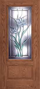 """Sweet Iris Entry Door. Read what our customer has said about this door.   """"This is door is the most beautiful door I have ever seen – better than doors on multi-million dollar homes. It also has lasted through 4 kids & their multitude of friends constantly streaming in and out. EVERYONE comments on it – even a decade later. So now that the upstairs carpet needs replacing and I groan at the cost of 950 sq feet of black oak laminate – I still smile at my Feather River door."""" - Brandy"""