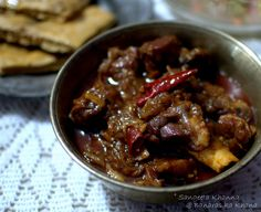 banaras ka khana: gosht dopyaza or mutton dopyaza (UP style), a simple home style mutton curry...