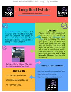 Loop Real Estate is a company which is current and competitive in multiple areas of Edmonton Real Estate and has proven to be very successful in helpi Sell Property, Property Search, Property For Sale, Do You Work, Selling Your House, Team Names, Real Estate Companies, Real Estate Investing, Estate Homes