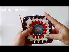 Granny Square Blanket, Crochet Squares, Crochet Videos, Benetton, Bracelet Patterns, Doilies, Lana, Mandala, The Creator