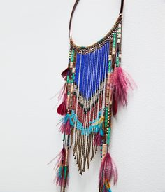 LONG ETHNIC FEATHER NECKLACE-Jewellery-Accessories-WOMAN   ZARA United States