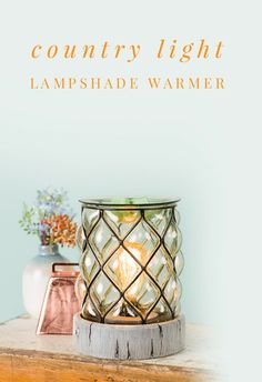 Country Light Lampshade Scentsy Warmer Electric and Wick-less scented wax warmer