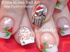 Xmas nails! Sexy Christmas Santa Nail Art Design Tutorial