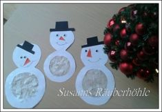 Basteln Schneemann - New Ideas Diy Christmas Cards, Christmas Snowman, Christmas Bulbs, Hanukkah Crafts, Feliz Hanukkah, Wrapping Ideas, Christmas Crafts For Kids, Simple Christmas, Love Decorations