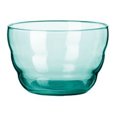 "turquoise glass bowl 3"" high 5"" wide IKEA"