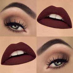"""Soft eyes and vampy lips, a pretty everyday look! I absolutely love the @lashesbylena More Matte Than Matte liquid lipsticks, so matte and so easy to apply  products used:  @anastasiabeverlyhills Dipbrow """"Granite"""" & Clear browgel  @toofaced Bon Bon palette """"Mocha"""", """"Bordeaux"""" & """"Satin Sheets""""  @katvondbeauty Tattoo Liner """"Trooper""""  @ardell_lashes """"Demi 102""""  @isadoraofficial Liner (waterline) """"58 Blonde""""  @lashesbylena More Matte Than Matte Liquid lipstick """"Dante""""   #motd #makeupthang #..."""