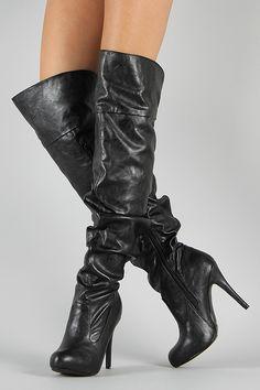 603b8fc04 Paprika Gram-S Slouchy Knee High Boot