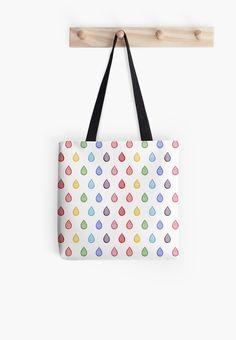 ed567c80e6  Rainbow raindrops  Tote Bag by savousepate