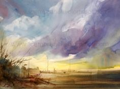 Blue Sky....., painting by artist Fabio Cembranelli