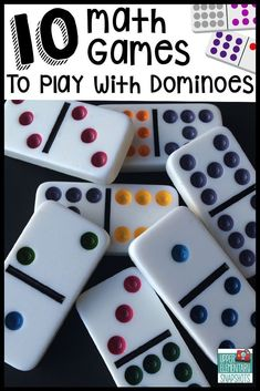 Ten math games that students can play with dominoes to strengthen multiplication, decimal, and fraction skills.  A FREE printable is included!