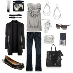 Black and gray outfit...great for casual wear, girls night out