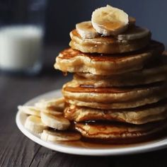 Stack 'em high and watch them fly.... Saturday morning calls for some fresh made pancakes topped with banana and of course, Noble Handcrafted Maple Syrup. Good morning!