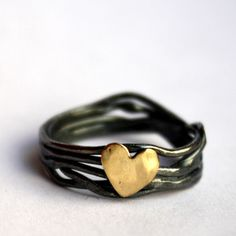 Nest And Heart Ring now featured on Fab.