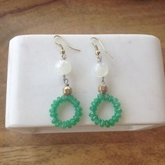 Moonstone Beaded Green Onyx Earrings- Laura James Jewelry – Laura James Jewelry