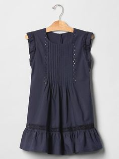 Pintuck lace dress Product Image