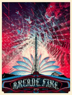 Arcade Fire.  The Flood Gallery - Specialists in limited edition gig posters, movie posters and art prints
