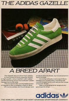4f26a7105b1 Vintage Adidas ad (check out the sweet Walkman in the background)