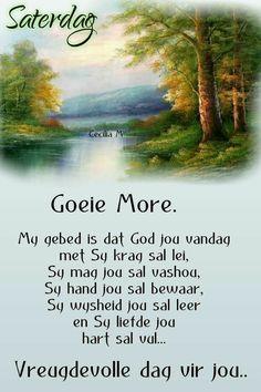 Goeie More, Afrikaans, Night, Words, Van, Quotes, Quotations, Vans, Qoutes