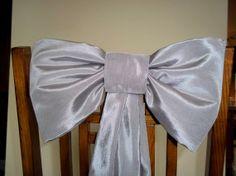 Wedding Pew Bows Taffeta Silver Grey Pew Bows by shannonkristina, $15.00