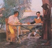 La lección de Andrés Bello a Bolívar Tito Salas Wikihistoria  del arte venezolano