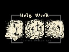 Holy Week Art for Church - Contrast Series Holy Friday, Maundy Thursday, Church Graphic Design, Art Folder, High Priest, Holy Week, Old Testament, Lent, Holi