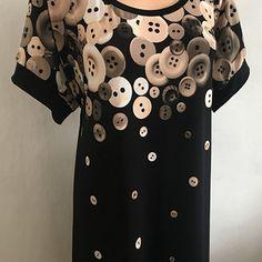 Maxi šaty- zlaté knoflíky 50-52 Short Sleeve Dresses, Dresses With Sleeves, Fashion, Moda, La Mode, Gowns With Sleeves, Fasion, Fashion Models, Trendy Fashion