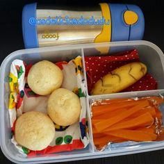 Cenoura + banana + Pão de queijo