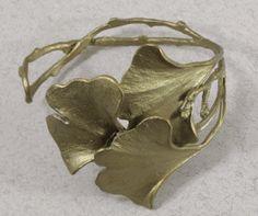 Silver Seasons - Michael Michaud - Gingko Cuff Bracelet Own this Jewelry Tools, Stone Jewelry, Jewelry Art, Jewelry Design, Jewelry Making, Sterling Silver Cuff, Silver Rings, Magical Jewelry, Piercings