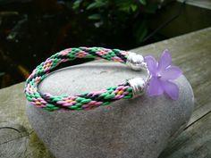 Bracelet. Childrens Braided flower bracelet. Flower charm bracelet. Kids Jewellery. Birthdays. Jewellery. Accessories. Gift Idea. by Twinkletoesjewellery on Etsy