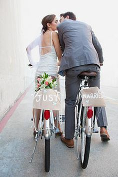 'just married'
