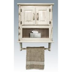 40 Creative Ideas White Rustic Bathroom Shelves 68 Rustic White Stained Walnut Wood Wall Cabinet with towel Rack Of Mesmerizing Bathroom Wall 1 Rustic Bathroom Cabinet, Bathroom Wall Storage, Wall Storage Cabinets, Bathroom Wall Cabinets, Wooden Bathroom, Bathroom Furniture, Bathroom Vanities, White Bathroom, Target Bathroom