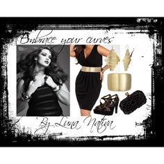 Black & Gold ~ Embrace your curves, created by Luna Nativa for the woman with curves