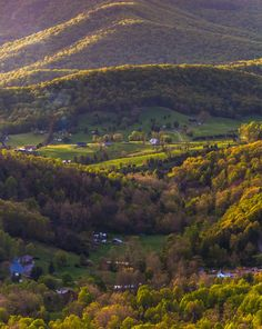 .  Farms and houses in the Shenandoah Valley