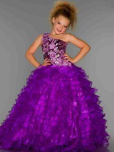 Purple Flower Girl Dresses