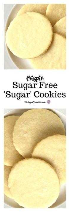Crispie Sugar Free Sugar Cookies #sugarfree #cookies #baking #dessert #trending #popular