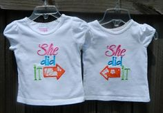 He She Did It Custom Matching Shirts by SoCuteSarah on Etsy, $36.00