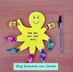 Ensinando com Carinho: Lembrancinha volta às aulas Polvo Doce