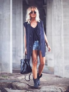 Angelica Blick..the hair, the sunglasses, the boots, the outfit...perfect!