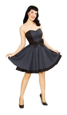 a nice short strapless number.