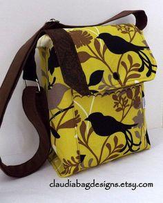 Metro Messenger Bag  Crossbody  Sling Hip Bag by ClaudiaBagDesigns, $38.00