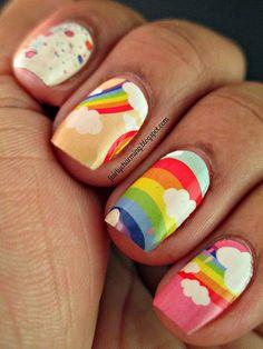 Cute rainbow nails