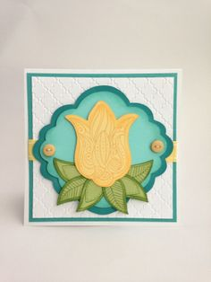 Courtney Lane Designs: Uniquely You flower card made using the Artiste cartridge and the June stamp of the month.