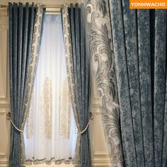 Custom curtains luxury Chinese classical living room embroidered gold brown cloth blackout curtain tulle valance drape Curtains from Home & Garden on AliExpress Living Room Decor Curtains, Home Curtains, Grey Curtains, Blackout Curtains, French Curtains, Pleated Curtains, Luxury Curtains, Elegant Curtains, Cheap Curtains